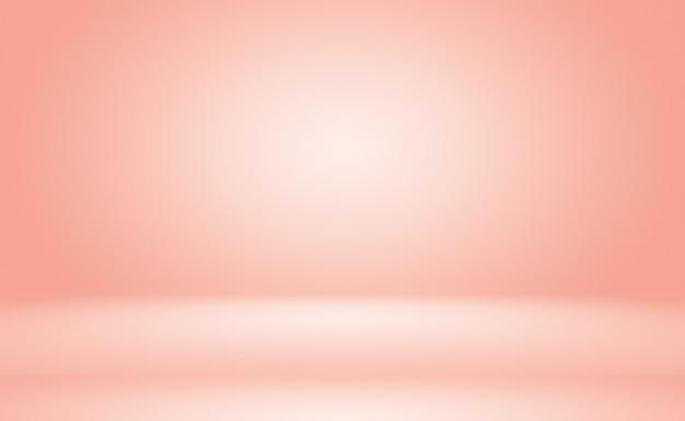 抽象的な空の滑らかなライトピンクのスタジオルーム