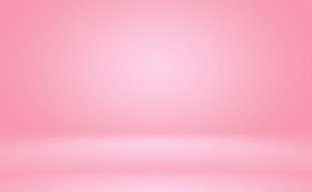 Абстрактная пустая гладкая светло-розовая студия
