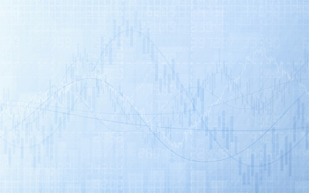 Abstract financial chart with graph