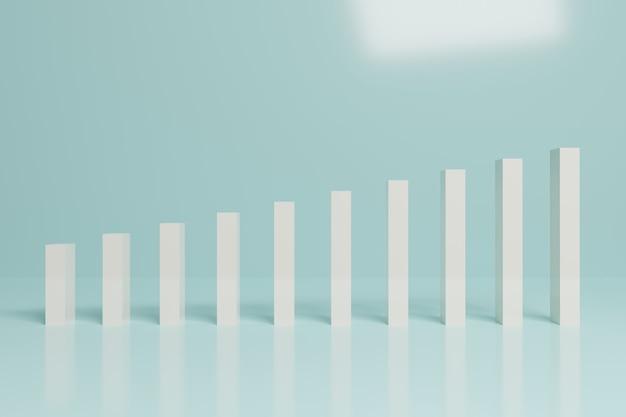 Abstract financial stock market  bar chart business 3d rendering