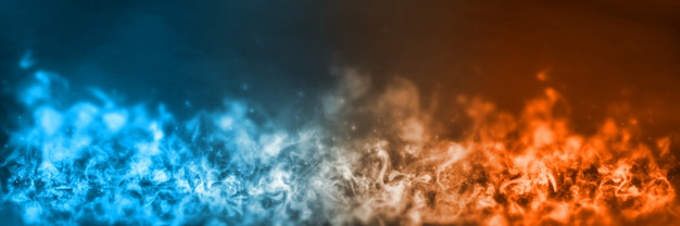 Abstract fire and ice element