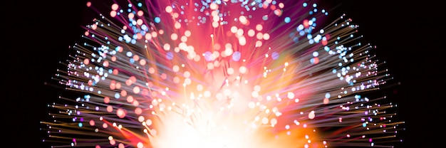 Abstract fireworks explosion in colorful shades