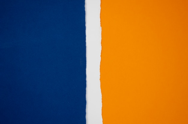 Abstract flag shape from coloured paper