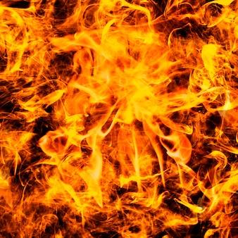 Абстрактный фон пламени, пылающий оранжевый огонь