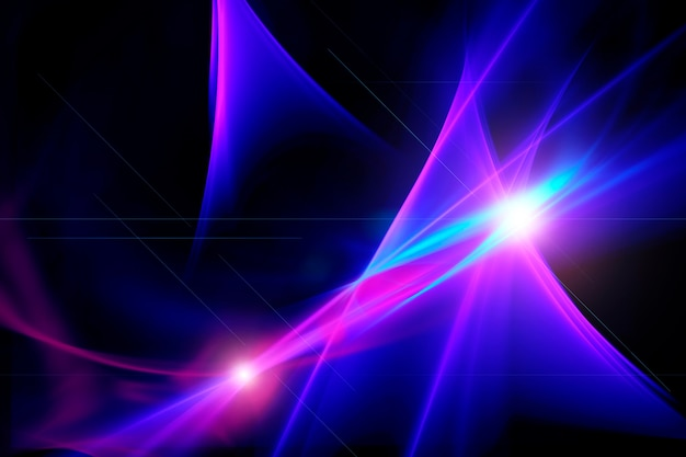 Абстрактный фон вспышки света с неоновыми огнями