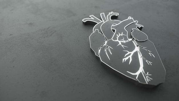 Абстрактное плоское сердце на концепции каменной поверхности.