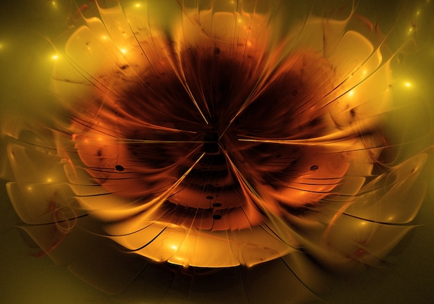 Abstract flower shiny background