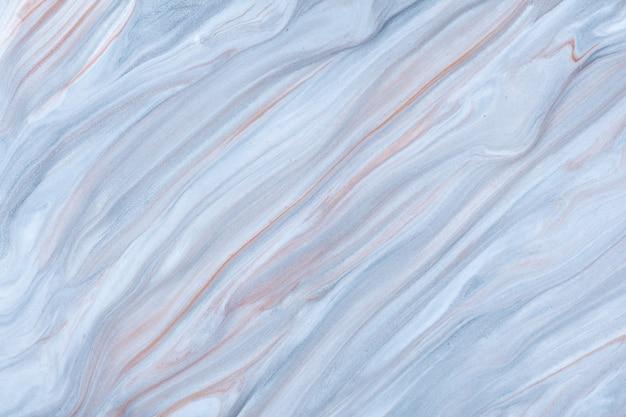 추상 유체 예술 배경 파란색과 갈색 액체 대리석