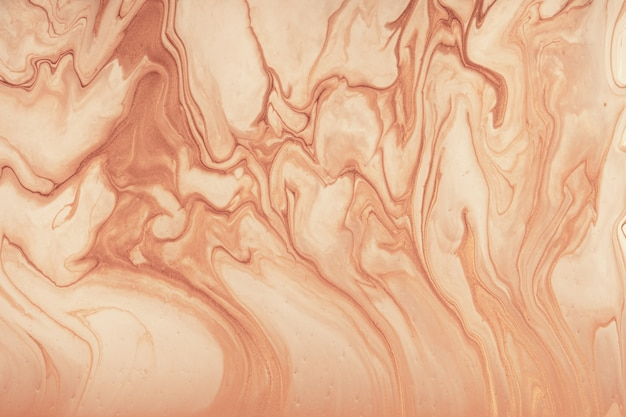 Abstract fluid art background brown and beige colors