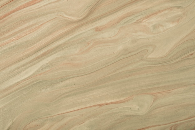 抽象的な流体アートの背景ダークブラウンとベージュ色。液体大理石。サンドパールグラデーションのアクリル画。