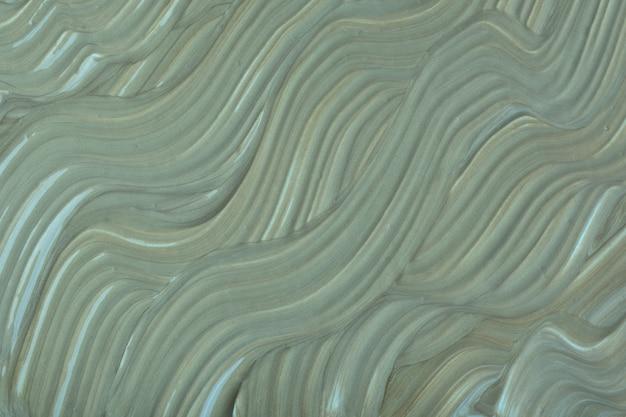 抽象的な流体アートの背景の濃い緑色。液体大理石。灰色のグラデーションのアクリル画。