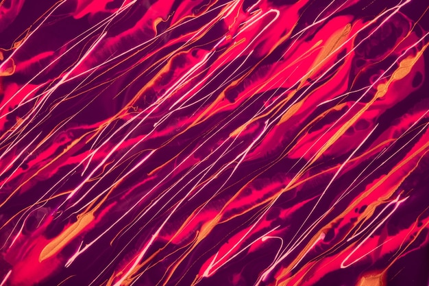 Abstract fluid art background dark violet and purple colors. liquid marble. acrylic painting on canvas with red lines and gradient. alcohol ink backdrop with wine wavy pattern.