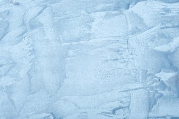 추상 유체 예술 배경 하늘색 색상. 하늘 그라데이션으로 캔버스에 아크릴 액체 그림