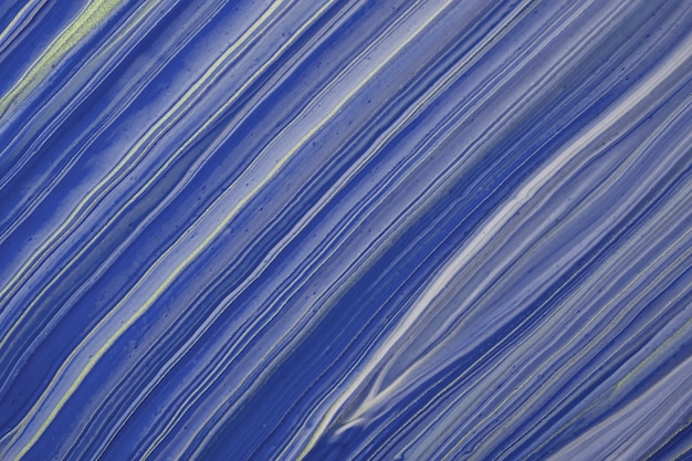 Абстрактное искусство фон темно-синий и золотой блеск цветов. жидкий мрамор. акриловая картина на холсте с сапфировым градиентом