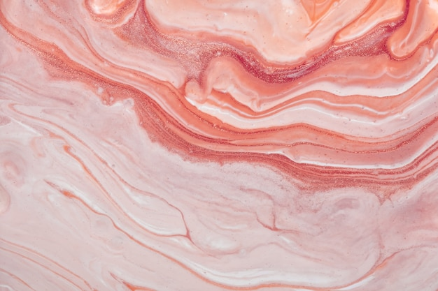 Abstract fluid art background pink and rose colors. liquid marble. acrylic painting on canvas with gradient. watercolor backdrop with pattern.