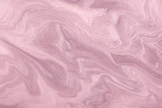 抽象流体アートライトパープルとライラック色。液体大理石。ピンクのグラデーションのアクリル画。