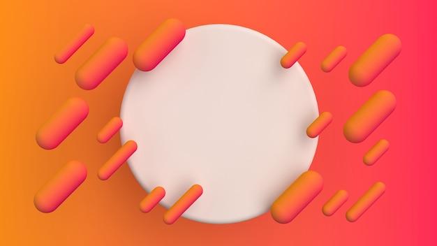 라운드 프레임 추상 유체 모양 색상 그라데이션 배경
