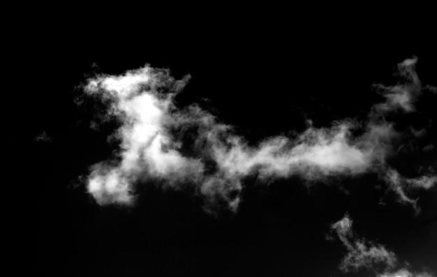 Абстрактный туман или эффект дыма, изолированные на черном