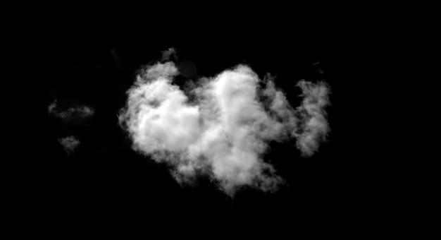 블랙에 고립 된 추상 안개 또는 연기 효과