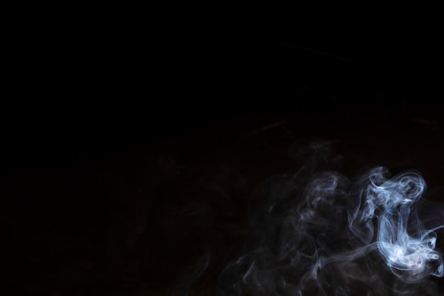 Abstract fog or smoke move on black background
