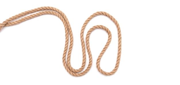 ロープ、ケーブル、分離された裾の抽象的な形