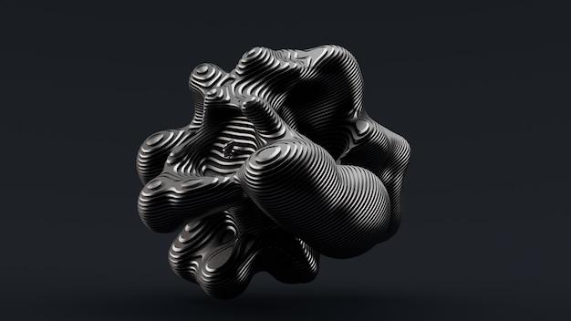 黒の抽象的な形