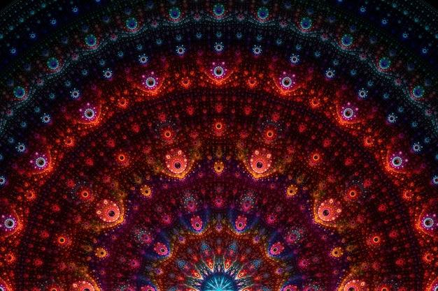 Абстрактное фрактальное искусство фоновый узор. красивая фрактальная иллюстрация для творческого графического дизайна