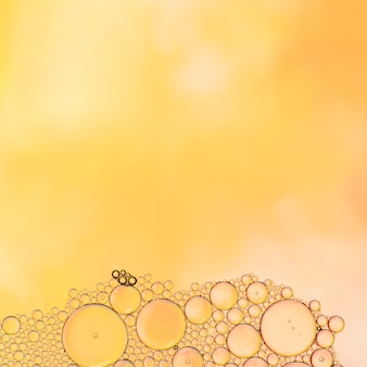 Abstract frame oil with bubbles