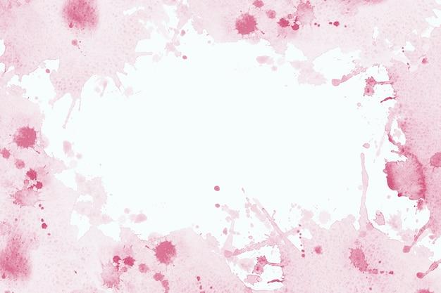 추상 프레임 수채화 페인트 핑크 브러시 잉크, 스플래시 스트로크 얼룩 드롭. 흰색 바탕에 추상 미술 그림입니다. 텍스트 배너, 장식 또는 결혼식 배경을 위한 그루지 요소입니다.