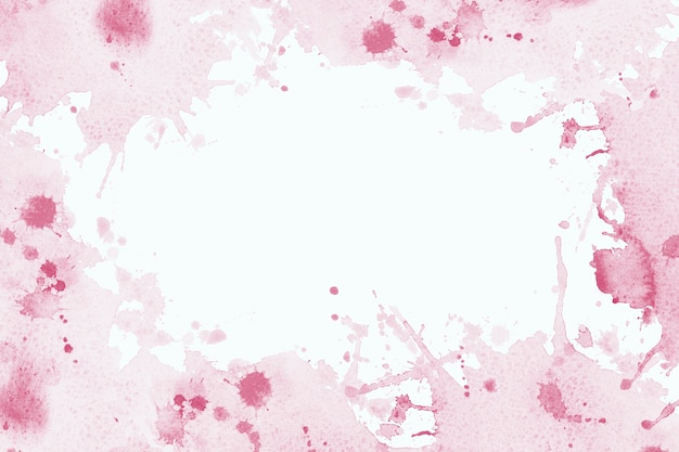 Abstract frame watercolor paint pink brush ink, splash stroke stain drop. abstract art illustration on a white background. banner for text, grunge element for decoration or wedding backdrop.