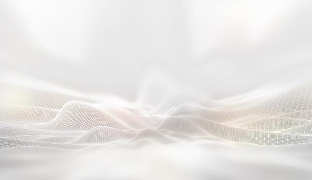 Абстрактный фон технологии будущего белая сеть