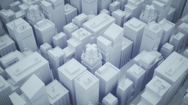 高層ビルのある抽象的な未来都市
