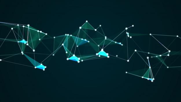 抽象的な未来的なコンピューターインターネットネットワーク接続の概念図