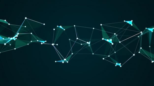 抽象的な未来的な分子ネットワーク接続デジタル技術の背景