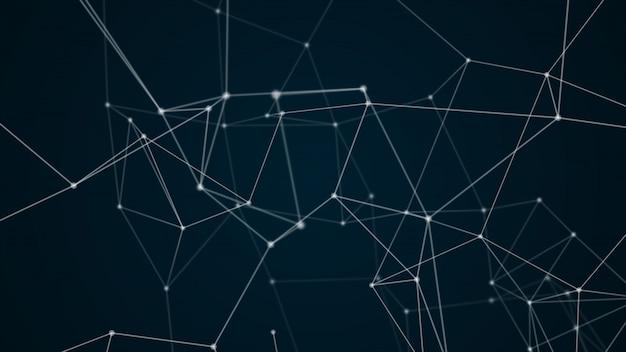 抽象的な未来的な分子構造ブルーカラーブラックの背景
