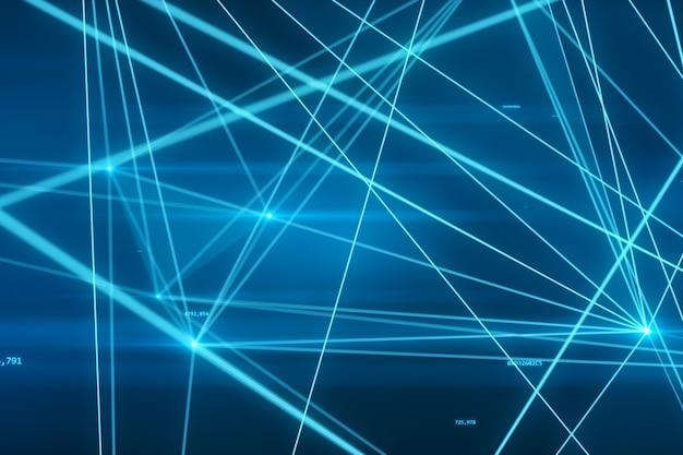 숫자와 연결 3d 일러스트와 함께 추상 미래의 네트워크