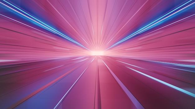 明るい背景をぼかす抽象的な未来的な速度
