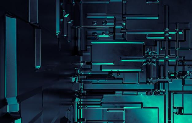 建設回路基板と抽象的な未来技術の背景