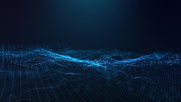 Абстрактный футуристический - технология с многоугольными формами на синем фоне. дизайн концепции цифровых технологий.