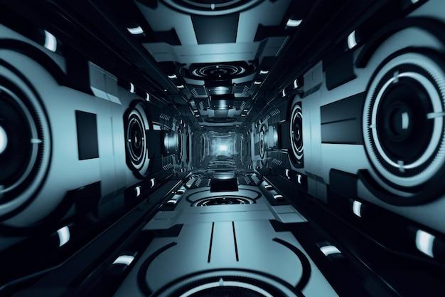 抽象的な未来的なトンネル