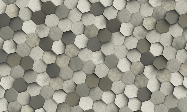 Abstract geometric background of hexagonal
