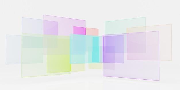 Абстрактный геометрический фон со стеклом