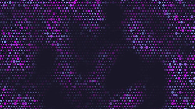 Abstract geometric blue and pink dots on black background. elegant and luxury 3d illustration style for business and corporate template