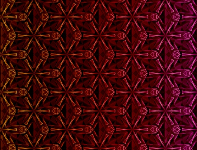 Abstract geometric colored background based on hexagonal grid