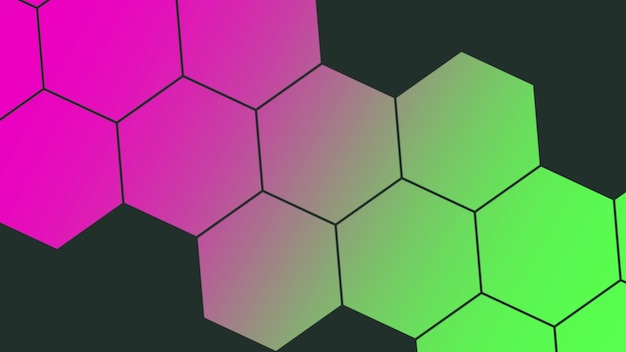 Abstract geometric colorful honeycomb, retro background