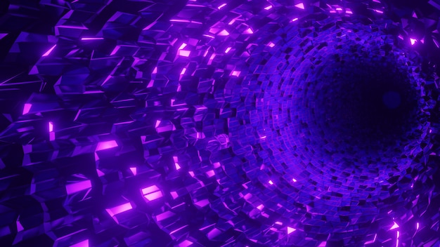 Abstract geometric crystal tunnel  background
