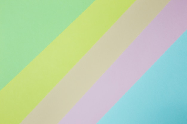 Abstract geometric paper background. green, yellow, pink, orange, blue trend colors.