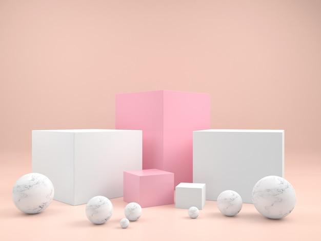 製品のプレゼンテーションのための抽象的な幾何学的な表彰台