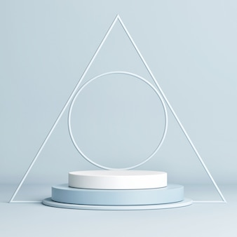 製品プレゼンテーションのための抽象的な幾何学的表彰台シーン