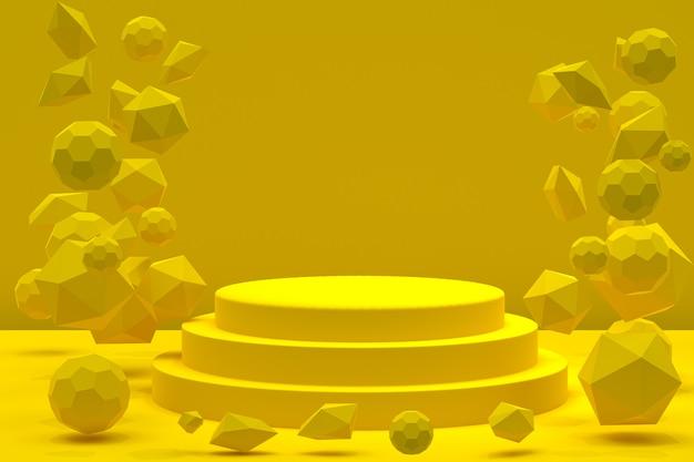 Абстрактная геометрическая форма подиума